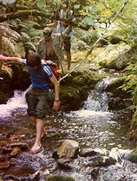 Por el rio Muniellos en 1986