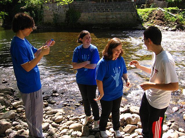 Actividades educativas en el río Narcea. GECA 2011