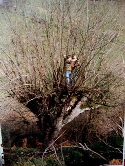 Por los bosques de Cangas a principios de los 80