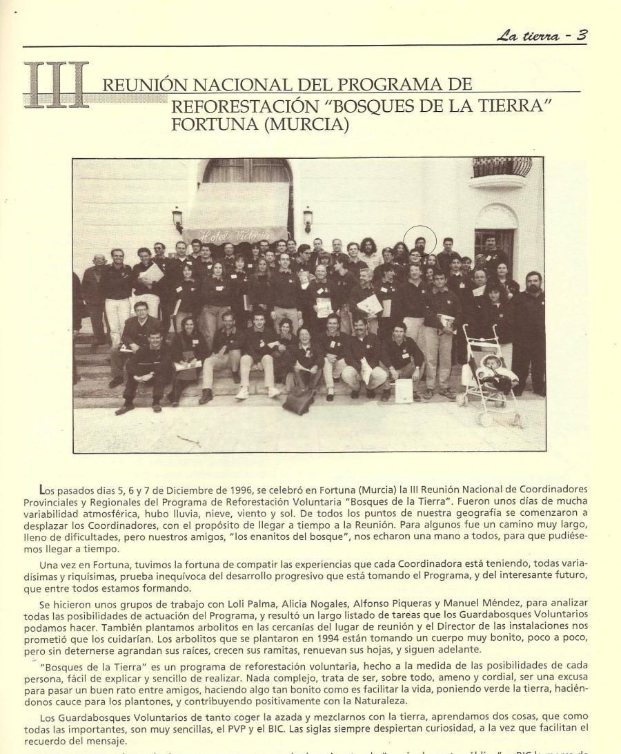 """En el círculo, el representante del GECA en la reunión nacional del programa """"Bosques de la Tierra"""""""