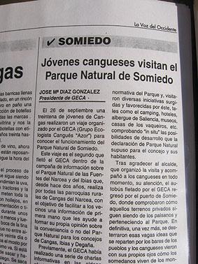Campaña divulgativa del GECA sobre el Parque Natural de Fuentes del Narcea