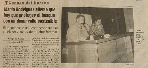 Conferencia sobre los bosques