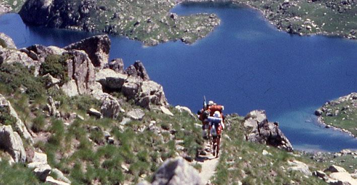 17 días recorriendo a pie y en tienda de campaña el parque nacional de los Pirineos leridanos, en 1987.